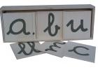 Abecedario en papel de lija