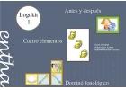 Logokit 1. Antes y después. Cuatro elementos. Dominó fonológico.